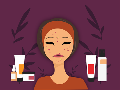 Purging and Break Out skincare break out purging vector minimal illustration flat design