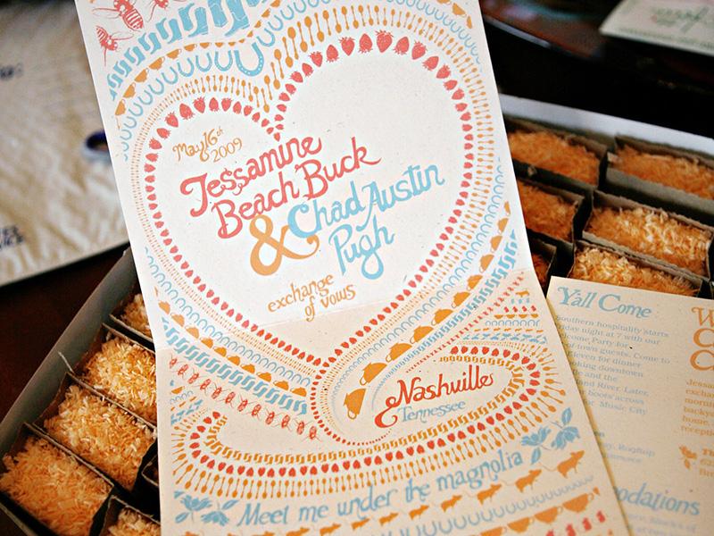 Wedding Invitation print wedding typography illustration hand type screen printing invitation