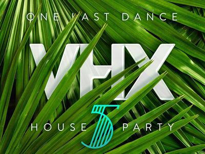One Last Dance flyer five 5 art deco deco palm vhx party house
