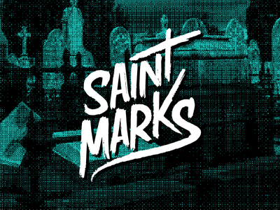 Saint Marks Lettering halftone st cemetary ink paint lettering hand lettering saint marks marks saint