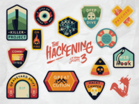 The Hackening Sticker Sheet