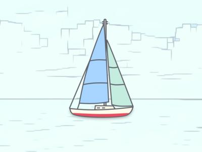 Sailboat sailboat icon