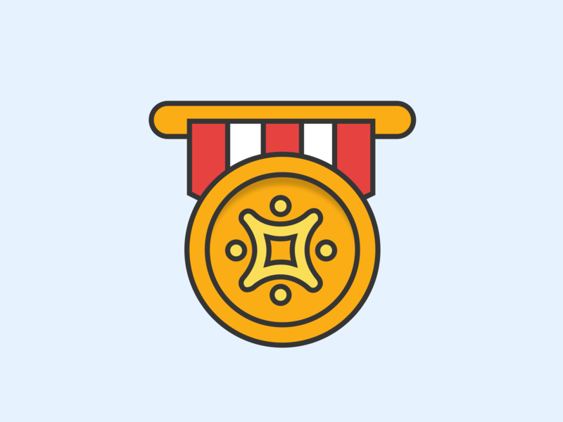 Property service evaluation icon medal prize icon