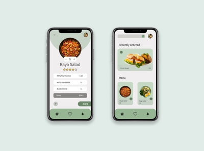 Meal order mobile app UX/UI design app design ui ux mobile app mobile order meal