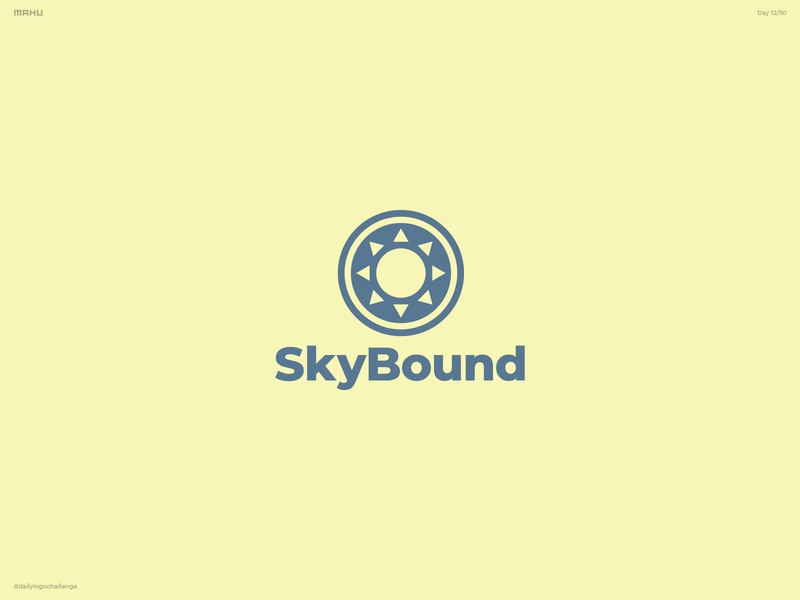 Airline Logo - SkyBound branding design logo dailylogochallenge