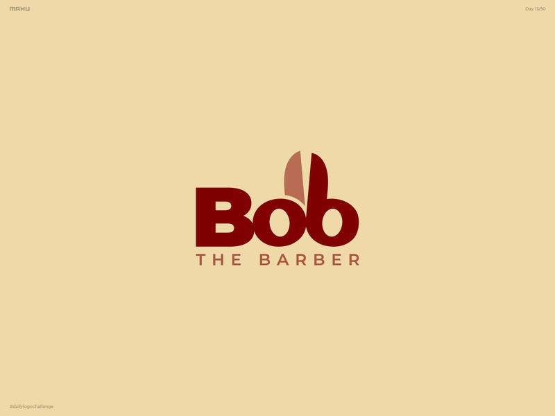 Barbershop Logo - Bob The Barber branding design logo dailylogochallenge
