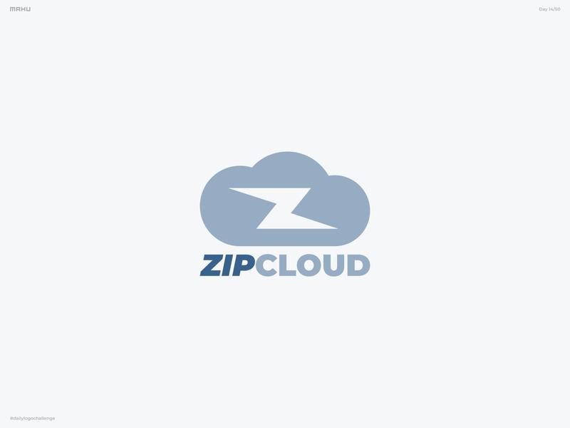 Cloud Computing Logo - Zip Cloud branding design logo dailylogochallenge
