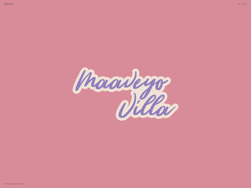 Hand Lettering Logo - Maaveyo Villa branding design logo dailylogochallenge