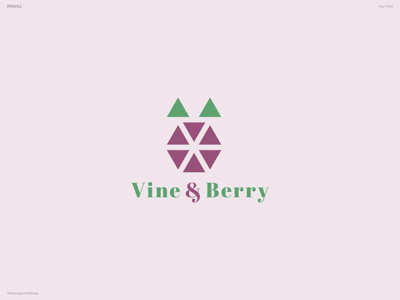 Geometric Logo - Vine & Berry dailylogo branding design logo dailylogochallenge