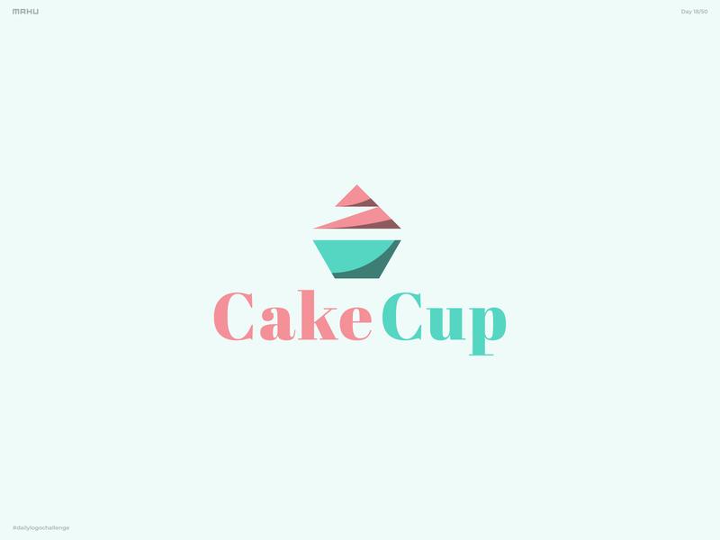 Cupcake Logo - CakeCup branding design logo dailylogochallenge