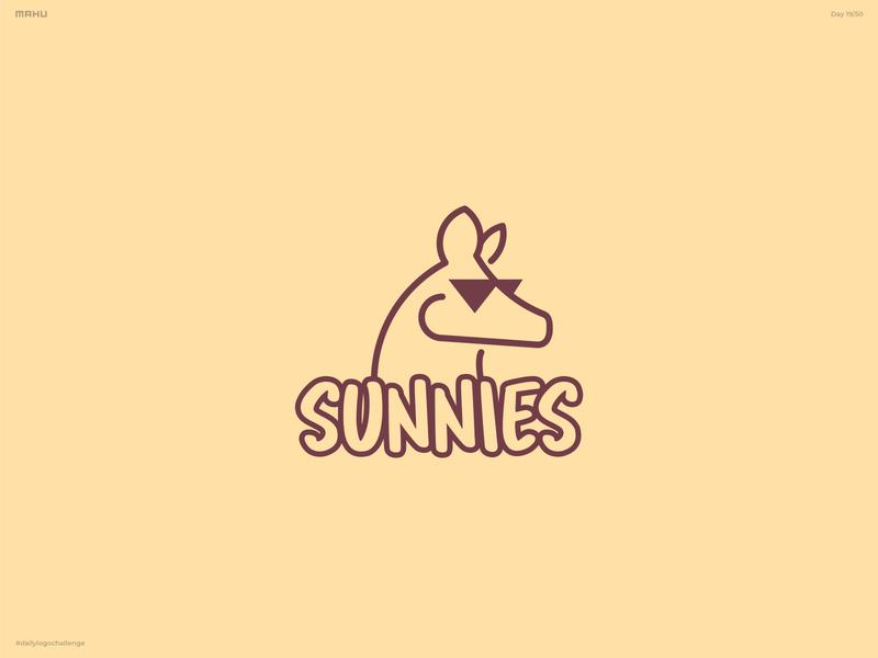 Kangaroo Logo - Sunnies branding design logo dailylogochallenge