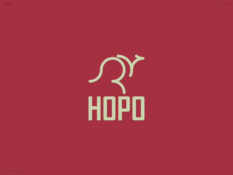 Kangaroo Logo - Hopo branding design logo dailylogochallenge