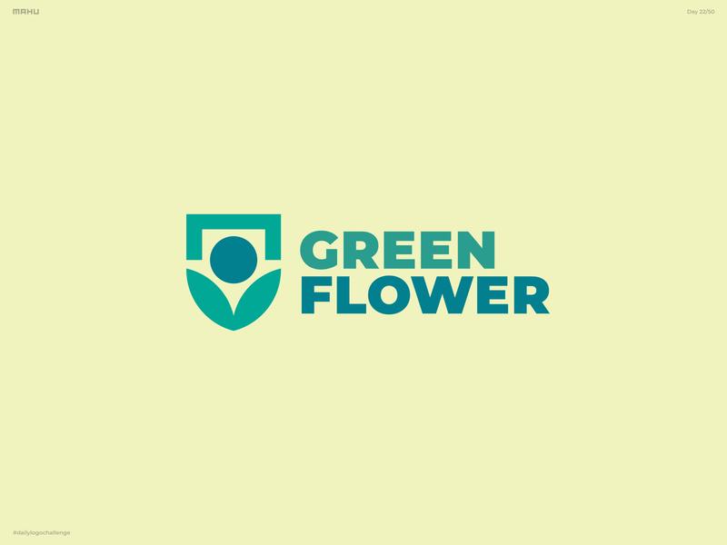 City Logo - Greenflower branding design logo dailylogochallenge
