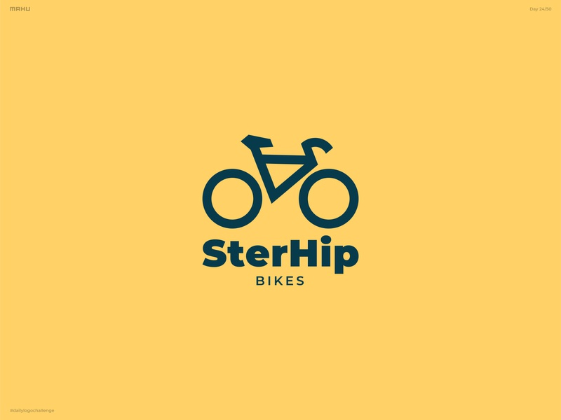 Bicycle Shop Logo - SterHip Bikes branding design logo dailylogochallenge