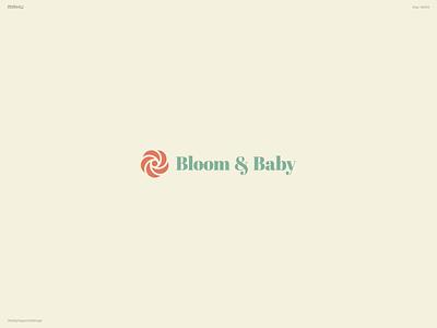 Baby Apparel Brand Logo - Bloom & Baby branding design logo dailylogochallenge
