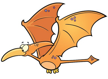 Pterodactyl Color Ostrom cartoon dinosaur vector illustrator pterodactyl bob ostrom
