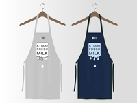 Aprons foodanddrink color beverage design branding logo apron milk