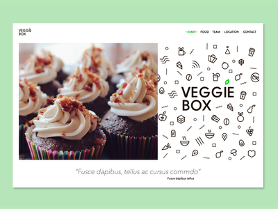 DailyUI #3 - Landing Page cupcakes muffins restaurant homepage webdesign veggie food landingpage daily 003 dailyui