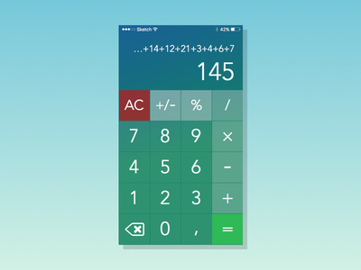 Daily UI #4 - Calculator app numbers math calculator daily 004 dailyui