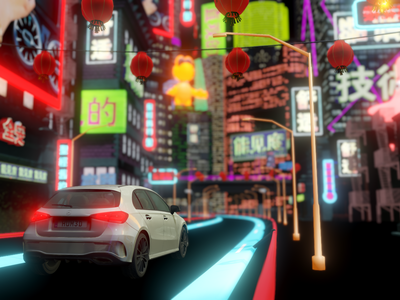 Virtual Asian City realtimerendering design stage show carshow concept 3d art augmented reality realtime rendering unity unity3d cinema4d virtual reality car 3d