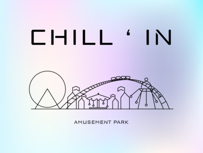 CHILL ' IN - Amusement Park amusement park amusement cotton candy abode illustrator adobe illustrator tools design clean design minimal whitespace