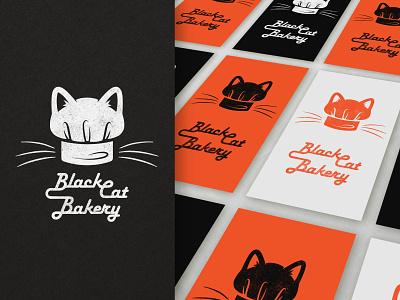 Black Cat Bakery cat ears baker black cat blackcat bakery cat black black cat bakery affinityphoto affinitydesigner vector spooky logo illustration icon halloween design something spooky design businesscard branding