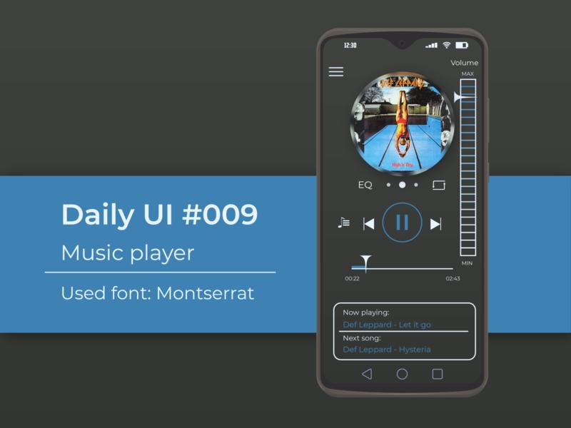 Music Player 09 music app dailyui challenge app 009