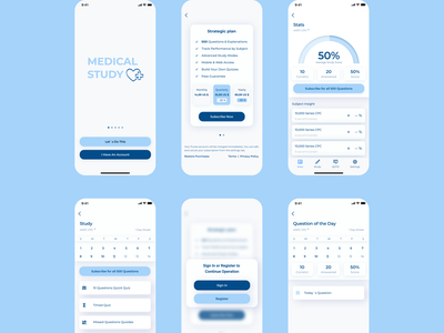 Medical Study | App app web design ux ui