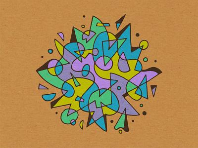 Nebula geometry drawing illustration