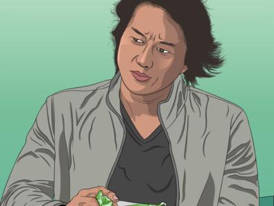 Vector Art, Sung Kang illustrator vector art vectorart vector portrait illustration digital art digitalart artwork artboard