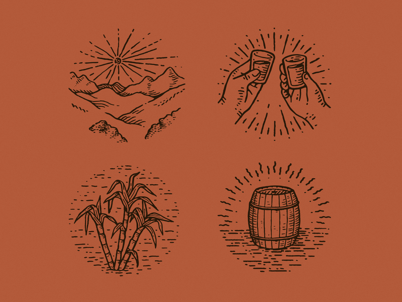 Cachaça (Spot Illustration) spot vintage vector branding illustration