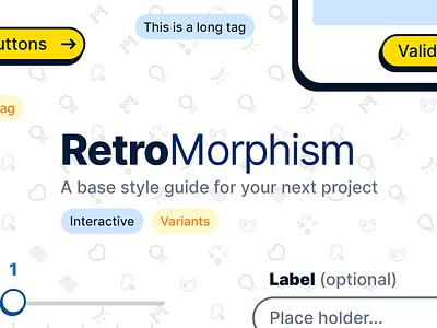RetroMorphism 🙃 style guide styleguide icon set component design figma ui kit retro