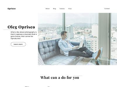 Oprisco photography ux ui web design
