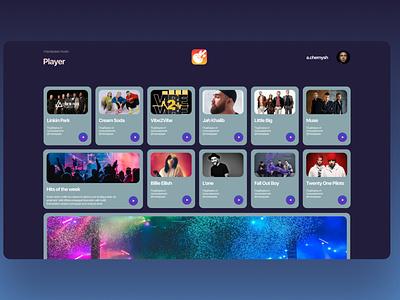 Music player design web ux ui design