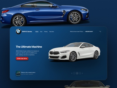 Promo BMW 8 web design