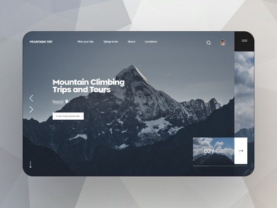 Mountains trip ux ui web design