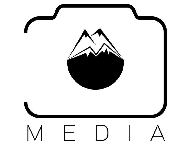Photography studio branding logo design illustration