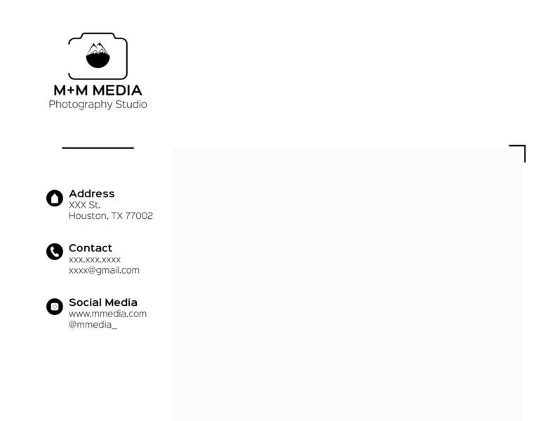 Photography studio branding vector minimal logo illustration design branding