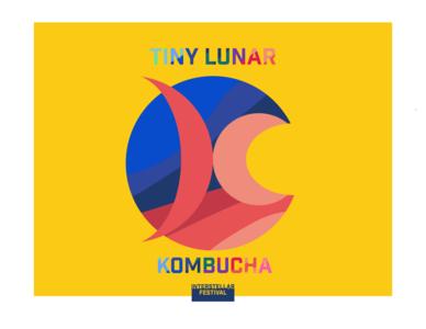 Kombucha drink logo concept minimal branding design logo illustration