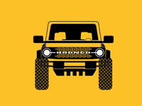 Illustration of the new Bronco 2021 icon minimal illustration