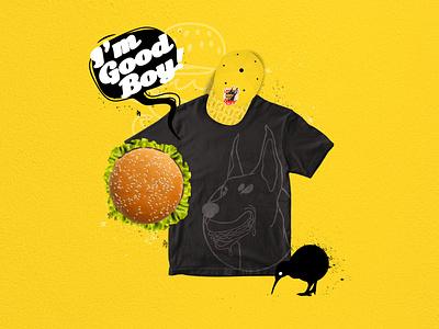 Doberman's Burger burger brand identity branding design artist drawing illustration artwork adobe photoshop adobe illustrator