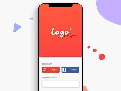 Sign In App Sample app icon typography ux branding adobe photoshop adobe illustrator design logo ui