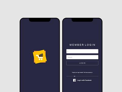 Intro & Login Pages adobe illustrator web app icon typography ux vector logo branding ui