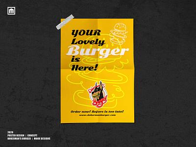 Doberman's Burger - Concept 2020 - Poster Design graphic design vector digitalart logo illustration design branding artwork adobe photoshop adobe illustrator