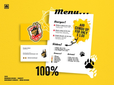 Doberman's Burger - Concept 2020 graphic design logo vector illustration digitalart design branding artwork adobe photoshop adobe illustrator