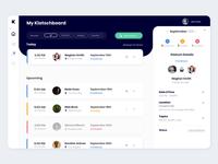 Dashboard UI - Meetings App