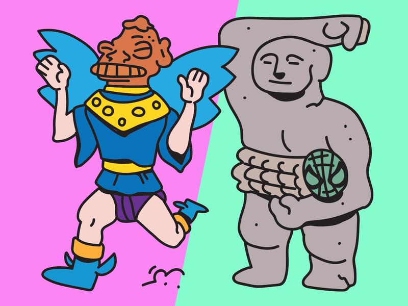 """""""Los caminantes"""" (The walkers) ilustración vector illustration drawing digital design costa rica character"""