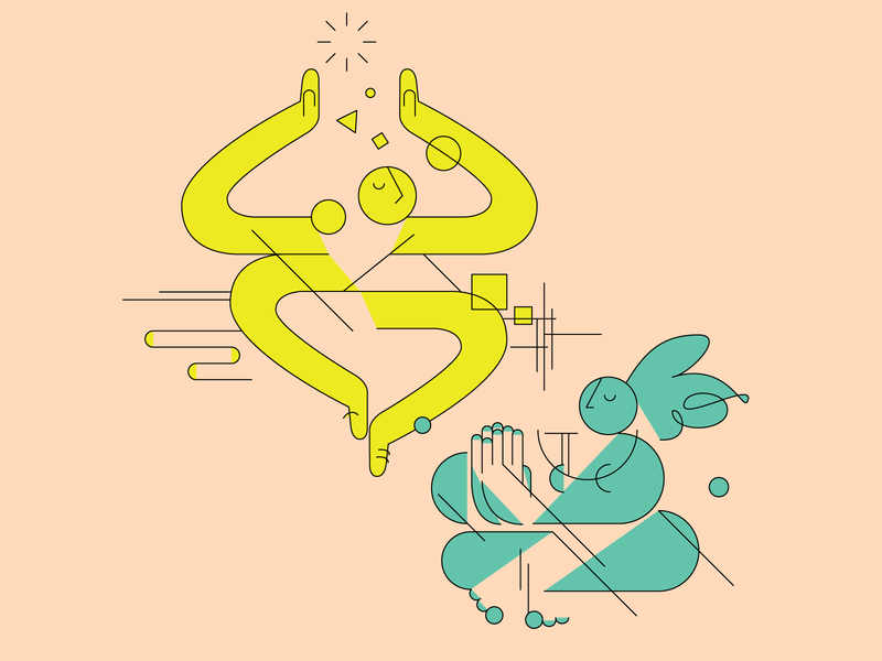 Calm design character quarantine relaxed chill illustration vector