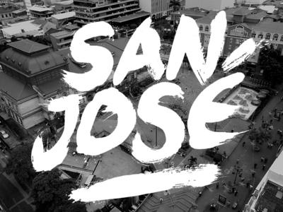 San José typography photography costa rica bw handmade costa-rica tipografía san-josé