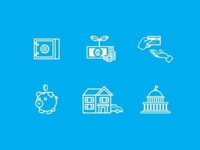 Financial Education icons icono diseño design costa rica education financial icons icon